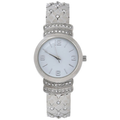 Mixit Womens Silver Tone Bangle Watch-Wac4443jc
