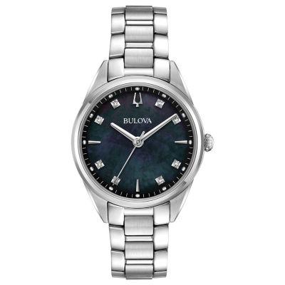 Bulova Womens Silver Tone Bracelet Watch-96p198