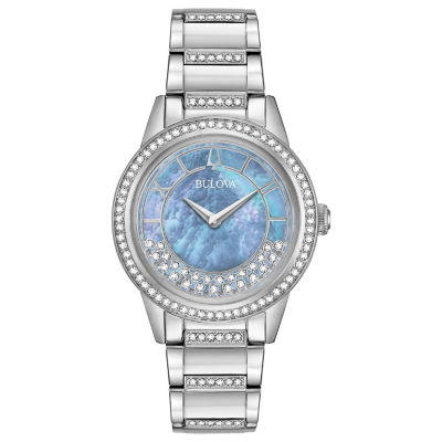 Bulova Womens Silver Tone Bracelet Watch-96l260