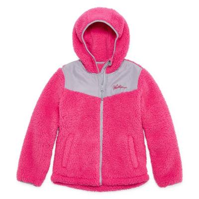 Weatherproof Lightweight Fleece Jacket-Big Kid Girls Plus