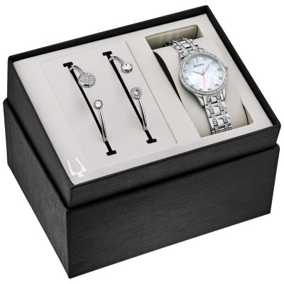 Bulova Womens Silver Tone Bracelet Watch-96x145
