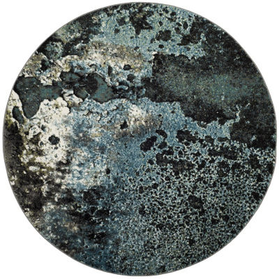 Safavieh Glacier Collection Eunice Geometric RoundArea Rug
