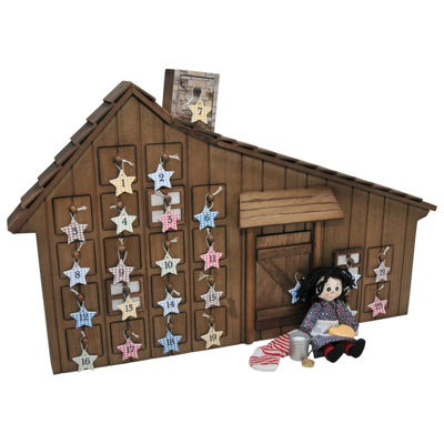 The Queen's Treasures Little House Holiday Wood Advent Calendar