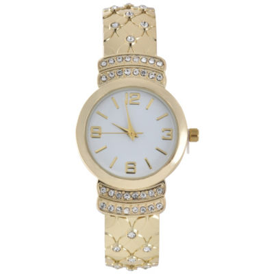 Mixit Womens Gold Tone Bangle Watch-Wac4444jc