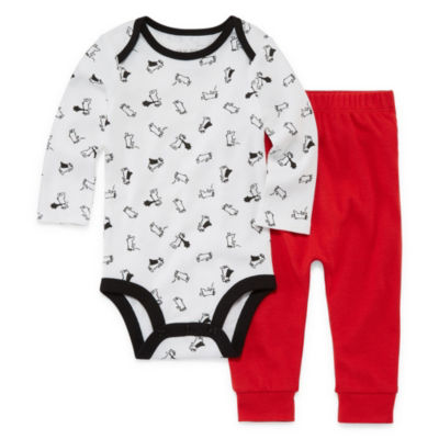 Okie Dokie Super Dog Long Sleeve Bodysuit and Pant Set - Baby Boy NB-24M
