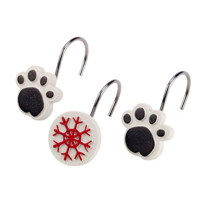 Avanti Happy Pawlidays Shower Curtain Hooks