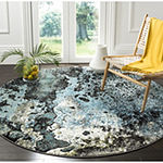 Safavieh Glacier Collection Eunice Geometric Round Area Rug