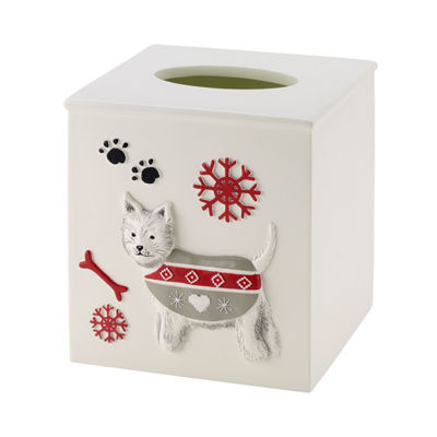Avanti Happy Pawlidays Tissue Box Cover