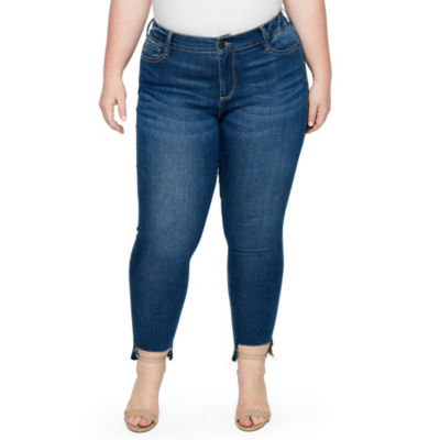 Boutique + Step Hem Skinny Jean - Plus