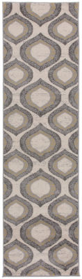 World Rug Gallery Modern Morroccan Design Geometric Runner Rug