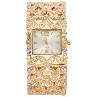 Mixit Womens Gold Tone Bangle Watch-Wac4442jc