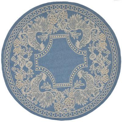 Safavieh Courtyard Collection Kestrel Oriental Indoor/Outdoor Round Area Rug