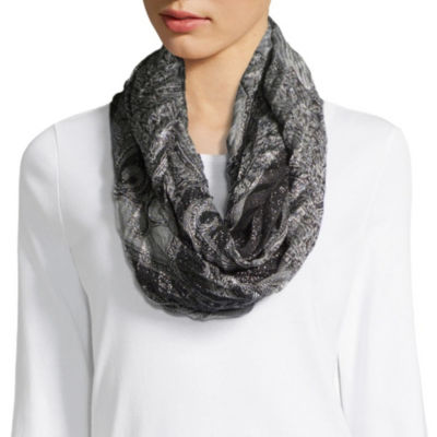 Mixit Paisley Shine Pleated Infinity Scarf