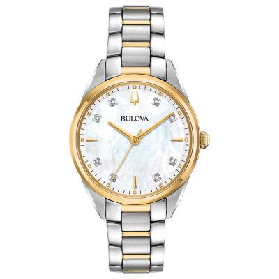 Bulova Womens Two Tone Bracelet Watch-98p184