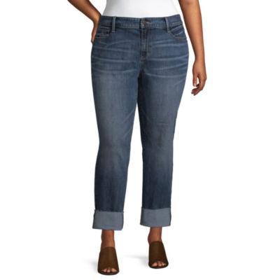 a.n.a Wide Cuff Straight Jean - Plus