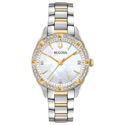 Bulova Womens Two Tone Bracelet Watch-98r263