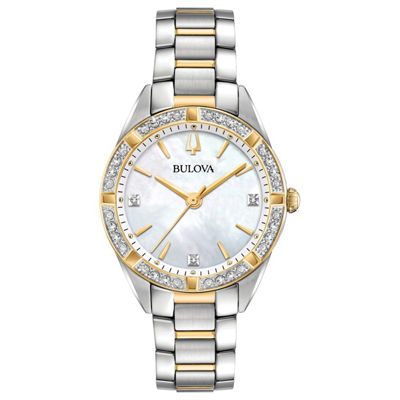 Bulova Womens Two Tone Bracelet Watch-98r263
