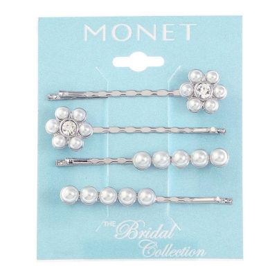 Monet Jewelry Blue 17.8mm Hoop Earrings