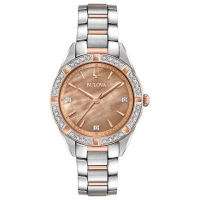 Bulova Womens Two Tone Bracelet Watch-98r264