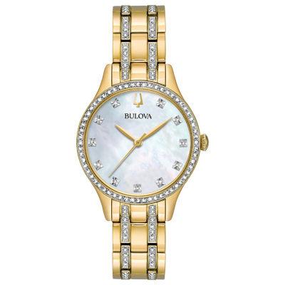 Bulova Womens Gold Tone Bracelet Watch-98x119