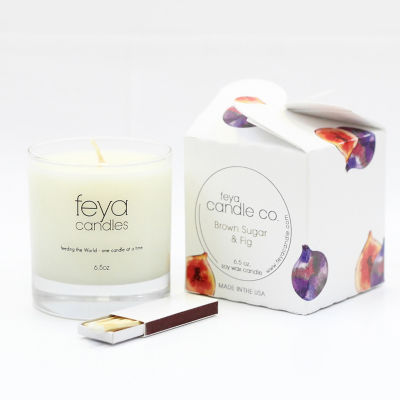 Feya Candle 6.5oz Brown Sugar & Fig Candle