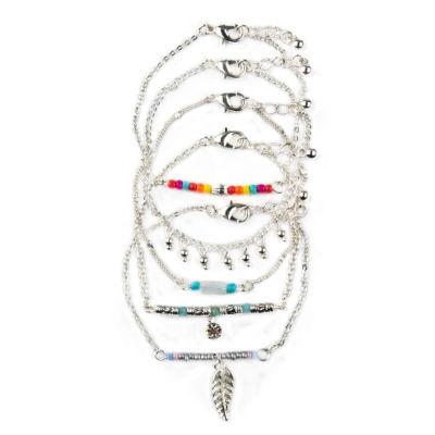 Arizona Womens 5-pc. Clear Bracelet Set