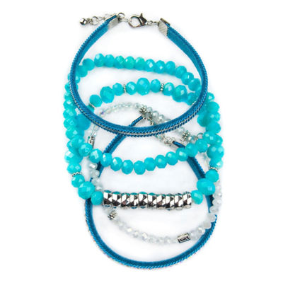 Arizona Womens 5-pc. Clear Bracelet Set