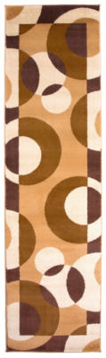 World Rug Gallery Modern Circles Runner Rug