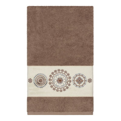 Linum Home Textiles 100% Turkish Cotton Isabelle Embellished Towel Collection