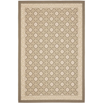 Safavieh Courtyard Collection Nowell Oriental Indoor/Outdoor Area Rug