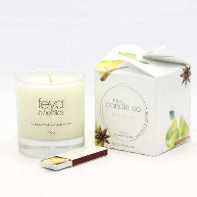 Feya Candle 6.5oz Pear Spice Soy Candle