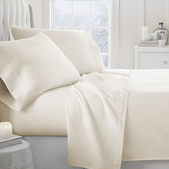 Casual Comfort Premium 4 Piece Ultra Soft Flannel Bed Sheet Set