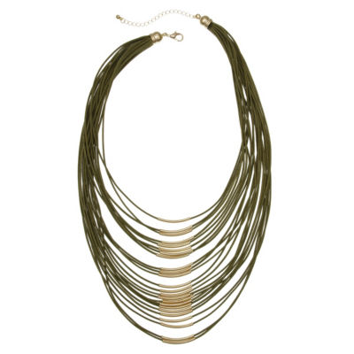 Mixit 6.25 Mixit Color Womens Strand Necklace