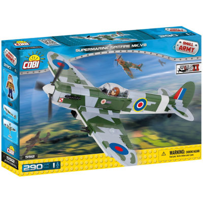 Cobi Small Army World War Ii Supermarine Spitfire Mk V Plane 290 Piece Construction Blocks Building Kit