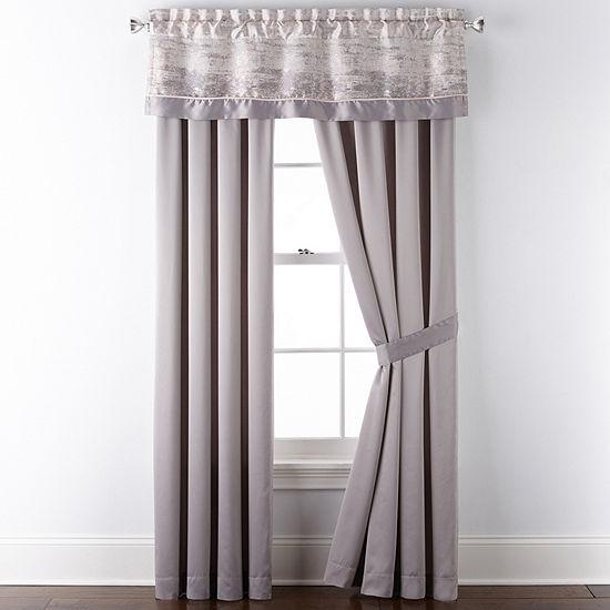 Liz Claiborne Dominic Rod-Pocket Single Curtain Panel