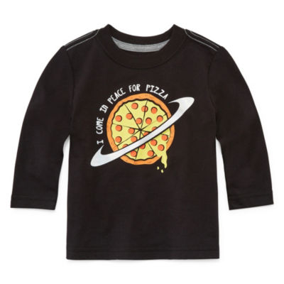 Okie Dokie Pizza Long Sleeve T-Shirt-Baby Boy NB-24M