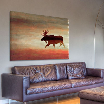 Moosehead Painting Print on Wrapped Canvas