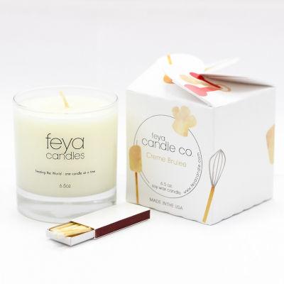 Feya Candle 6.5oz Crème Brulee Soy Candle