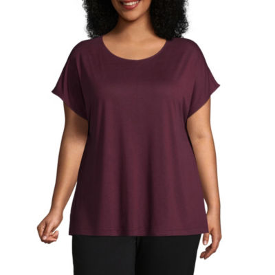 Worthington Short Dolman Sleeve T-Shirt - Plus
