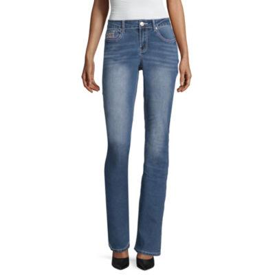 Love Indigo Cross Flap Pocket Jean - Tall