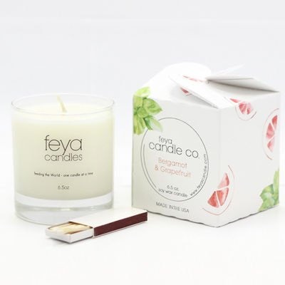 Feya Candle 6.5oz Bergamot & Grapefruit Soy Candle