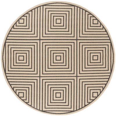Safavieh Linden Collection Moriah Geometric Round Area Rug