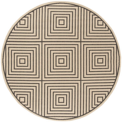 Safavieh Linden Collection Moriah Geometric RoundArea Rug