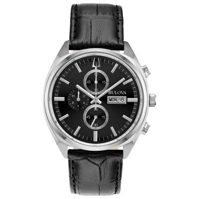 Bulova Mens Black Strap Watch-96c133