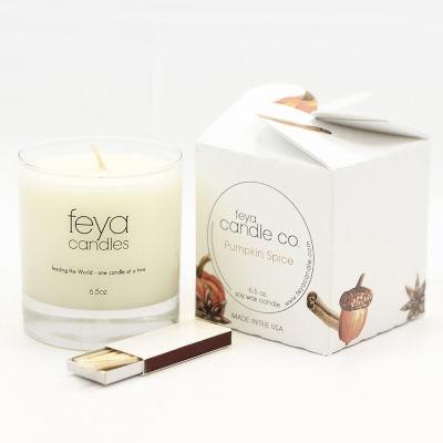 Feya Candle 6.5oz Pumpkin Spice Soy Candle