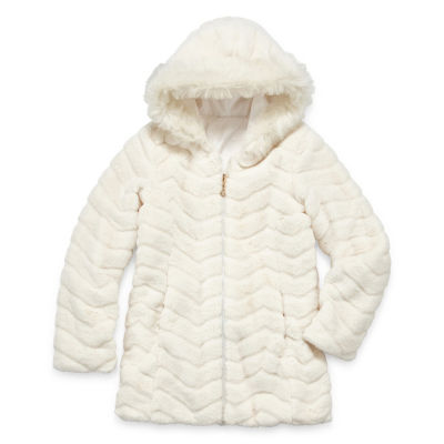 Gallery Midweight Faux Fur Jacket - Girls