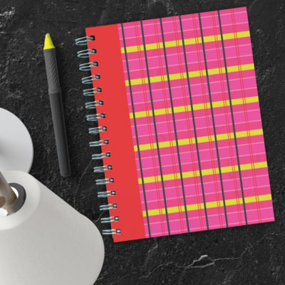 Plaid Spiral Journal