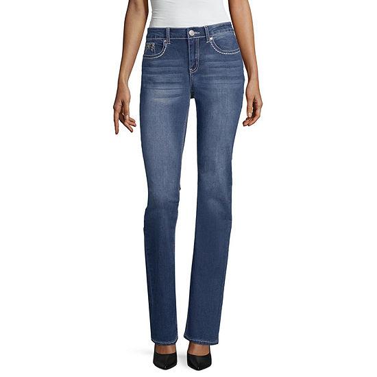 Love Indigo Cross Pocket Jean - Tall