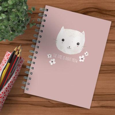 Pretty Kitty Spiral Journal