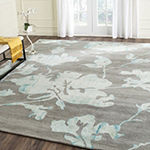 Safavieh Dip Dye Collection Jessie Floral Square Area Rug